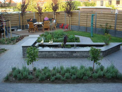 Pin voorbeeld tuinen genuardis portal on pinterest - Voorbeeld terras ...