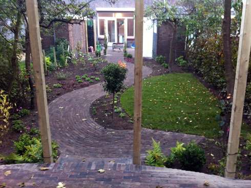 Hout beton schutting: tuin terras voorbeelden
